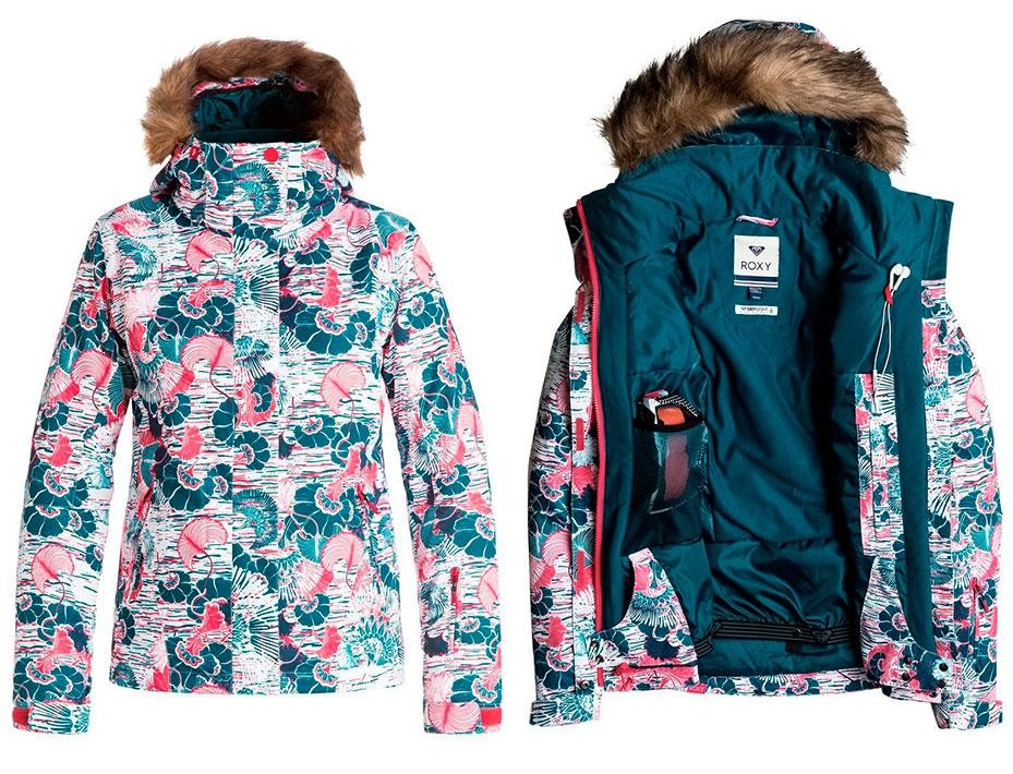 Сноубордическая куртка ROXY Jet Ski (Raspberry) (2017)