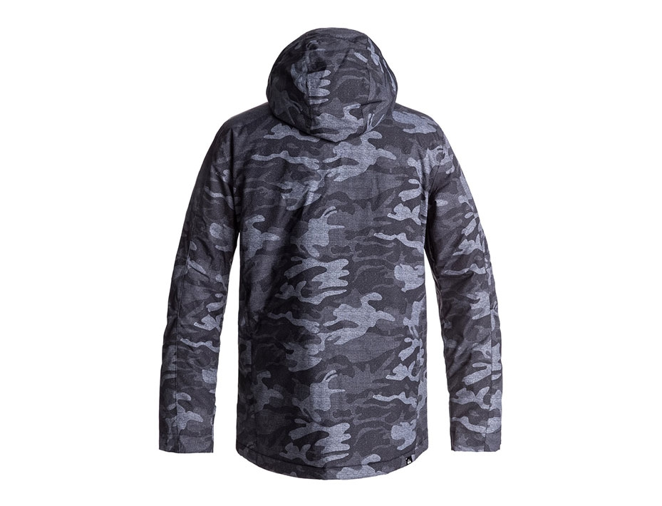 Сноубордическая куртка Quiksilver Mission (BLACK GREY CAMOKAZI) (2018)