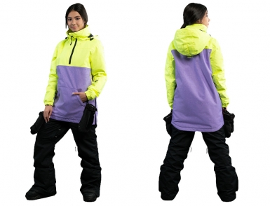 Анорак Cool Zone АК1102\27М30М Салат-фиолет меланж (2019)