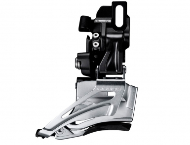 Перек-ль передний Shimano Deore, M618-D, на упор, для 2x10, ун. тяга, цв. черн.