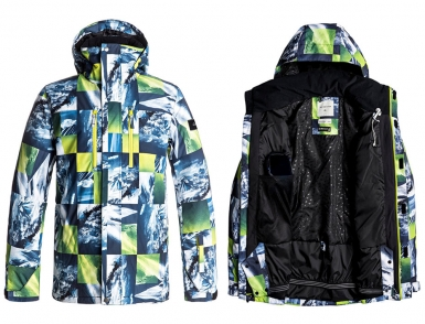 Сноубордическая куртка Quiksilver Mission (SULPHUR SPRING POW MOUNTAIN) (2018)