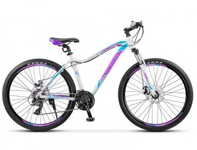 Велосипед STELS Miss-6100 MD (2017) (Белый/Фиолетовый)