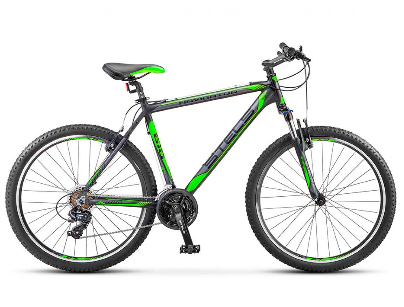 Велосипед STELS Navigator-610 V (Чёрный/Салатовый) (2016)