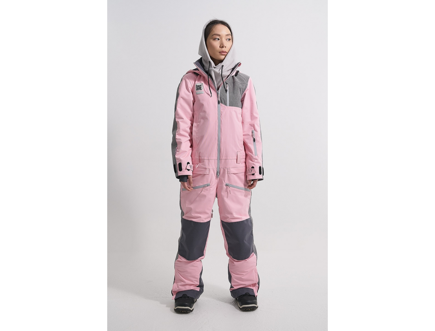Комбинезон OVER KN1124/26/31М светло-розовый/серый меланж (2022)