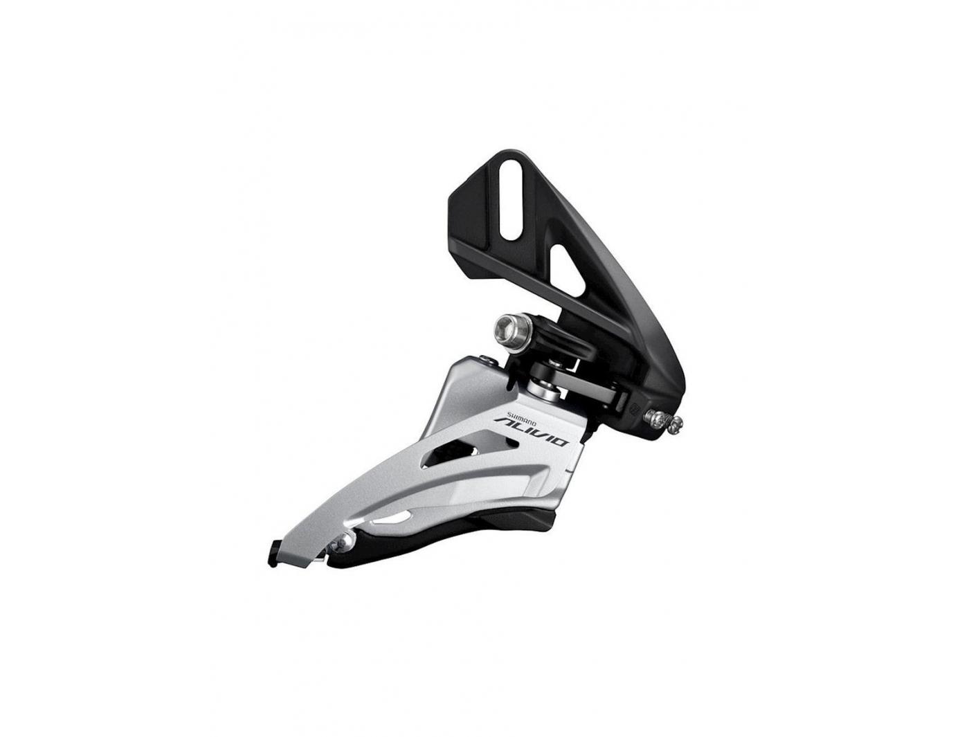 Перек-ль передний Shimano Alivio, M4020, side swing, верхн. тяга, direct mount, для 2x9ск уг.:64-69,