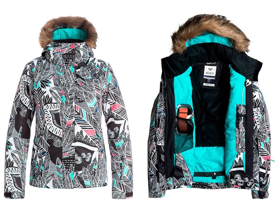Сноубордическая куртка ROXY Jet Ski (HA-TRUE BLACK) (2017)