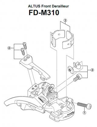 Переключатель передний Shimano Altus FD-M310