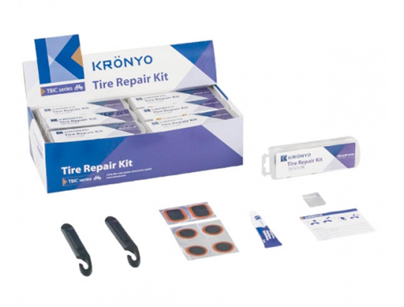 Аптечка 6-170311 TBIC-31C 6 суперзаплаток+клей+монтировки+терка (36) KRONYO