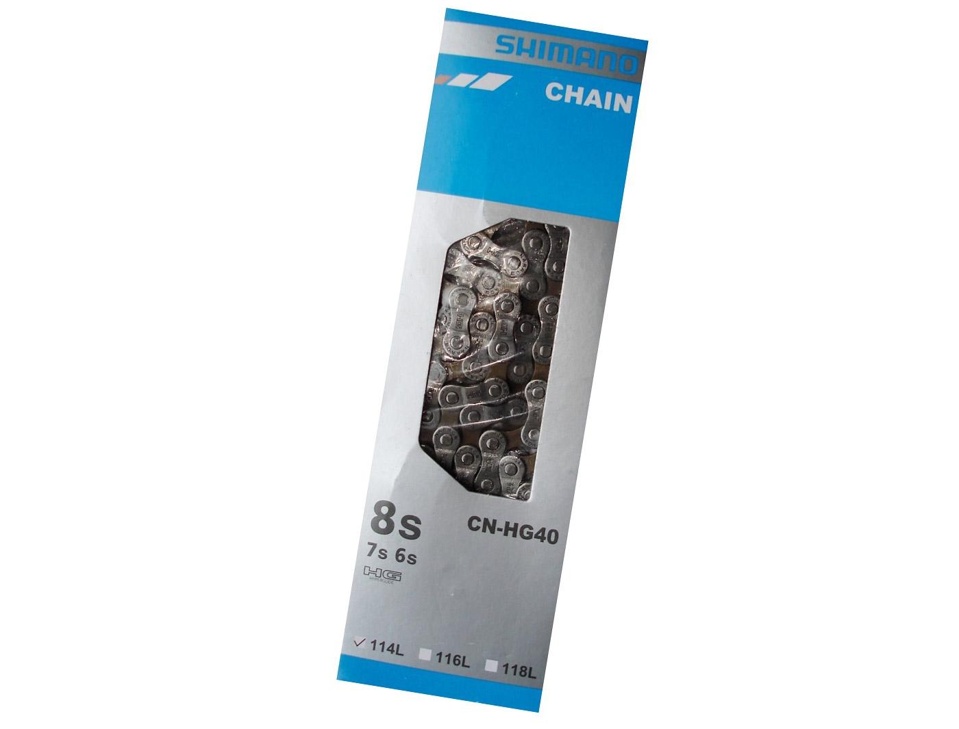Цепь Shimano, CN-HG40, 6/7/8ск, 114 зв., зам. UG51