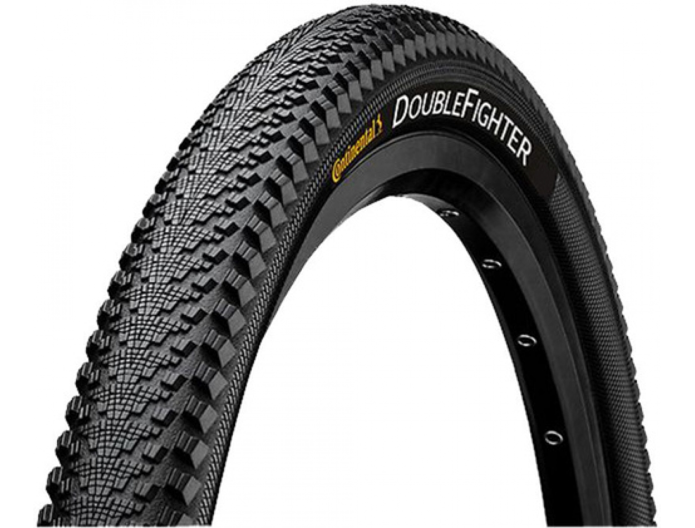 Покрышка 700x35mm  Continental Double Fighter 3 3/180Tpi 640гр. (01007950000)