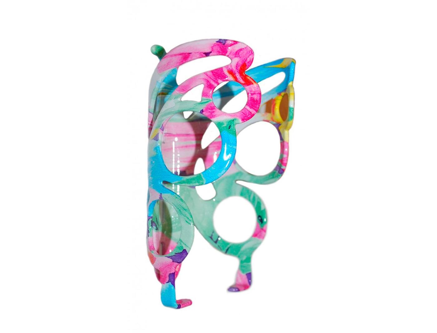 """Флягодерж-ль 6-14818 алюм. """"дизайн бабочка"""" разноцветный"""