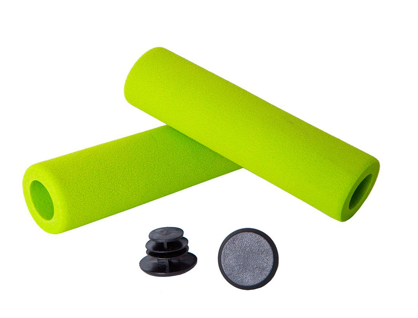 Грипсы Green Cycle GC-GR33 130mm пена EVA, зеленые