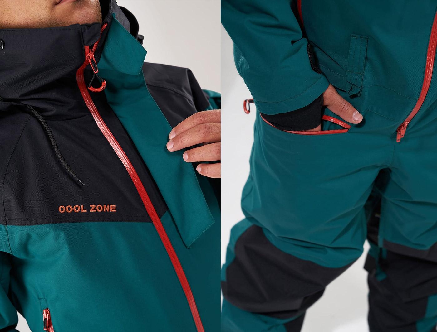 Комбинезон Cool Zone IRON KN2104/20/28 Черный/Болотный (2020)