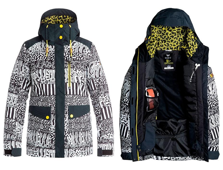 Сноубордическая куртка ROXY Andie (EYECATCHER) (2017)