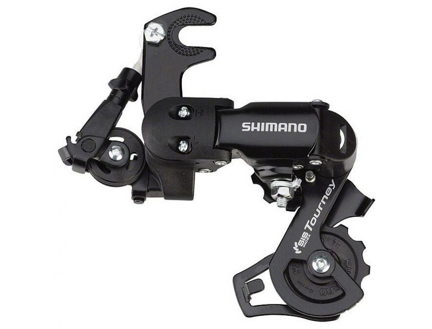 Перек-ль задний Shimano Tourney, TY200, GS, 6/7ск. крепление на ось, цв. черн., б/уп.