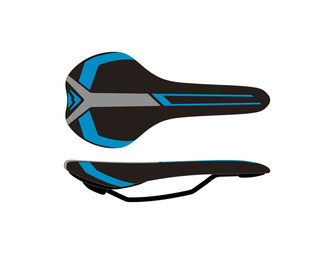 Седло Merida Race black/blue (2070074039)