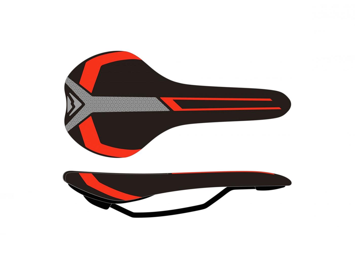 Седло Merida Race black/red (2070074040)