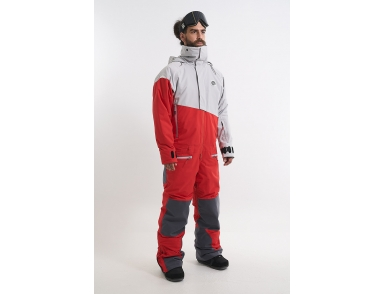 Комбинезон KN2118/36/04 SLASH холодный серый/красный (2022)