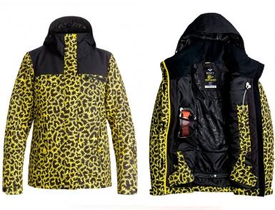 Сноубордическая куртка Roxy Jetty Block (LEOPARD) (2017)