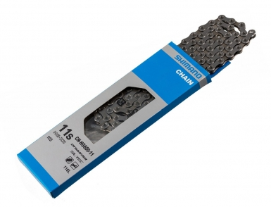 Цепь Shimano HG601, 11ск, 116 зв., амп.пин, ROAD/MTB/E-BIKE совмест.