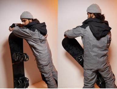 Комбинезон Cool Zone IRON KN2104/20/31M Черный/Серый меланж (2020)