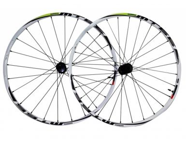 Комплект колес Shimano, MT66, передн. и задн, 26'', цв. белый, C.Lock