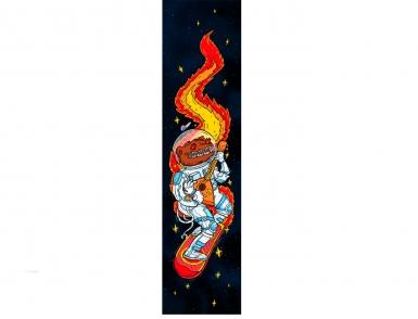 Шкурка для самоката Комета Космо-медведь красный
