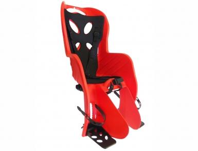 Сиденье 01-100072 детск.на багажник CURIOSO DELUXE красн с черной вставкой до 22кг 'NFUN (Италия)