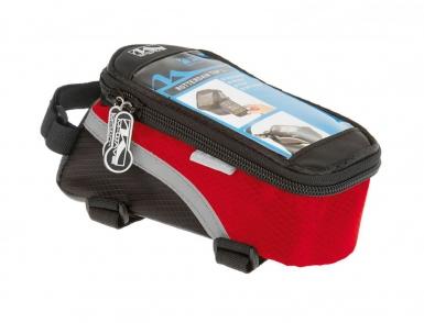 Сумочка/чехол+бокс M-WAVE на раму д/смартфона 170х80х80мм влагозащ. черно-красная