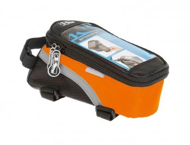Сумочка/чехол+бокс  M-WAVE на раму д/смартфона 170х80х80мм влагозащ. черно-оранжевая 5-122557