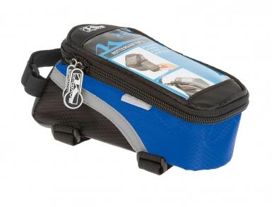 Сумочка/чехол+бокс M-WAVE на раму д/смартфона 170х80х80мм влагозащ. черно-синяя