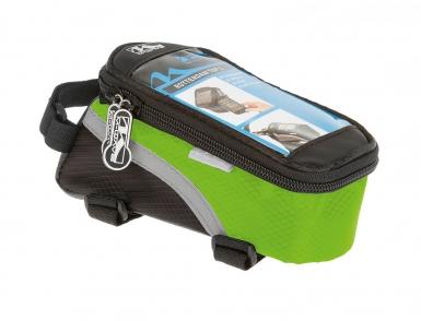 Сумочка/чехол+бокс M-WAVE на раму д/смартфона 170х80х80мм влагозащ. черно-зеленая