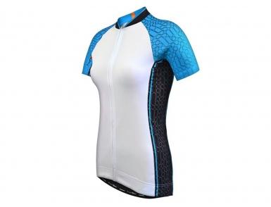 Велофутболка FunkierBike женская WJ-784 (Бело-голубая)