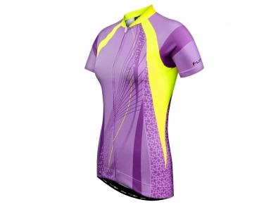 Велофутболка FunkierBike женская WJ782 Purple Pro (Сиреневая)