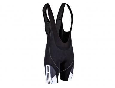 Велошорты AUTHOR 2 AS-11 Bib Blk c лямками с памперсом (Черно-белые)