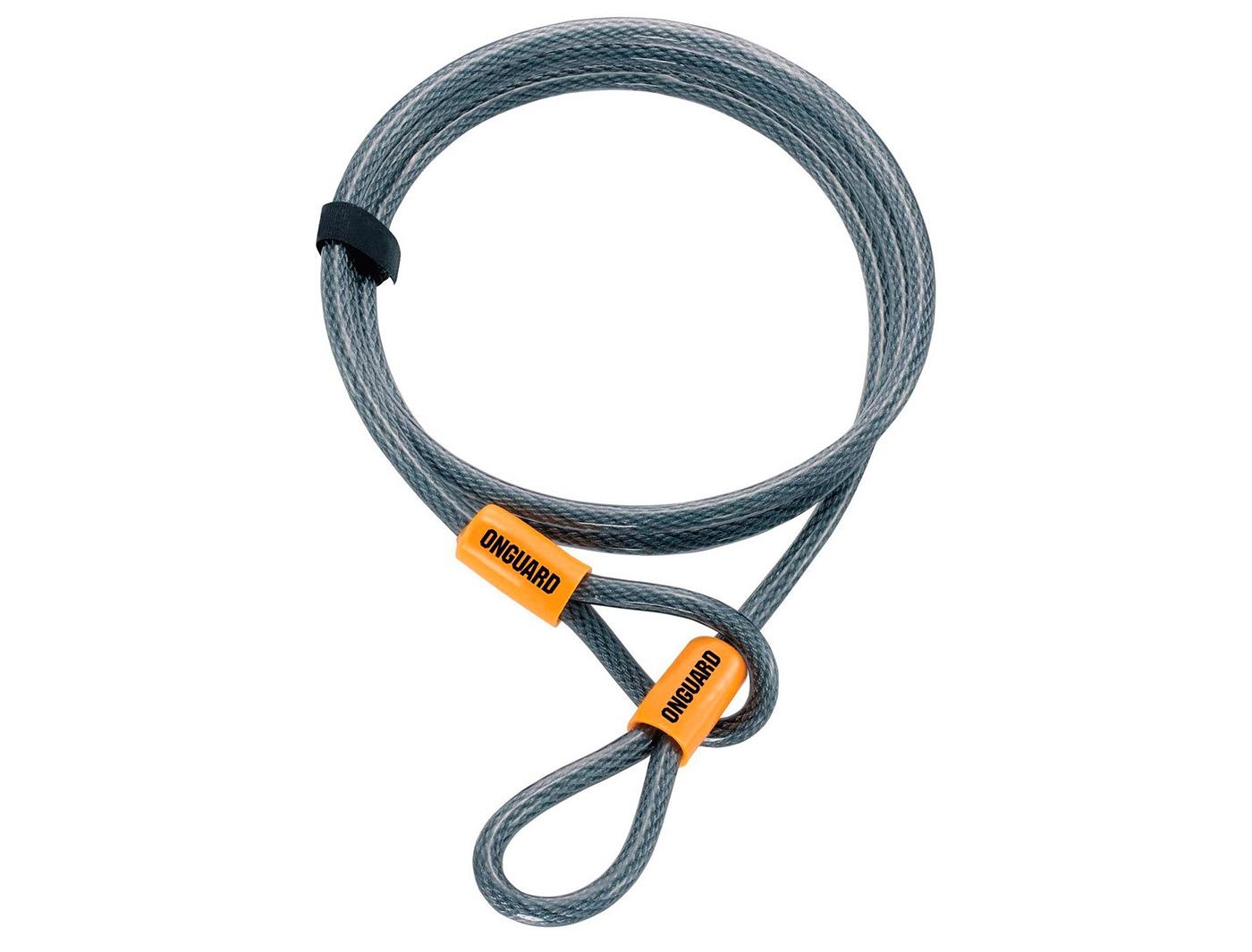 Трос ONGUARD AKITA Wire 220см х 10мм на петлях с виниловым покрытием, стальной