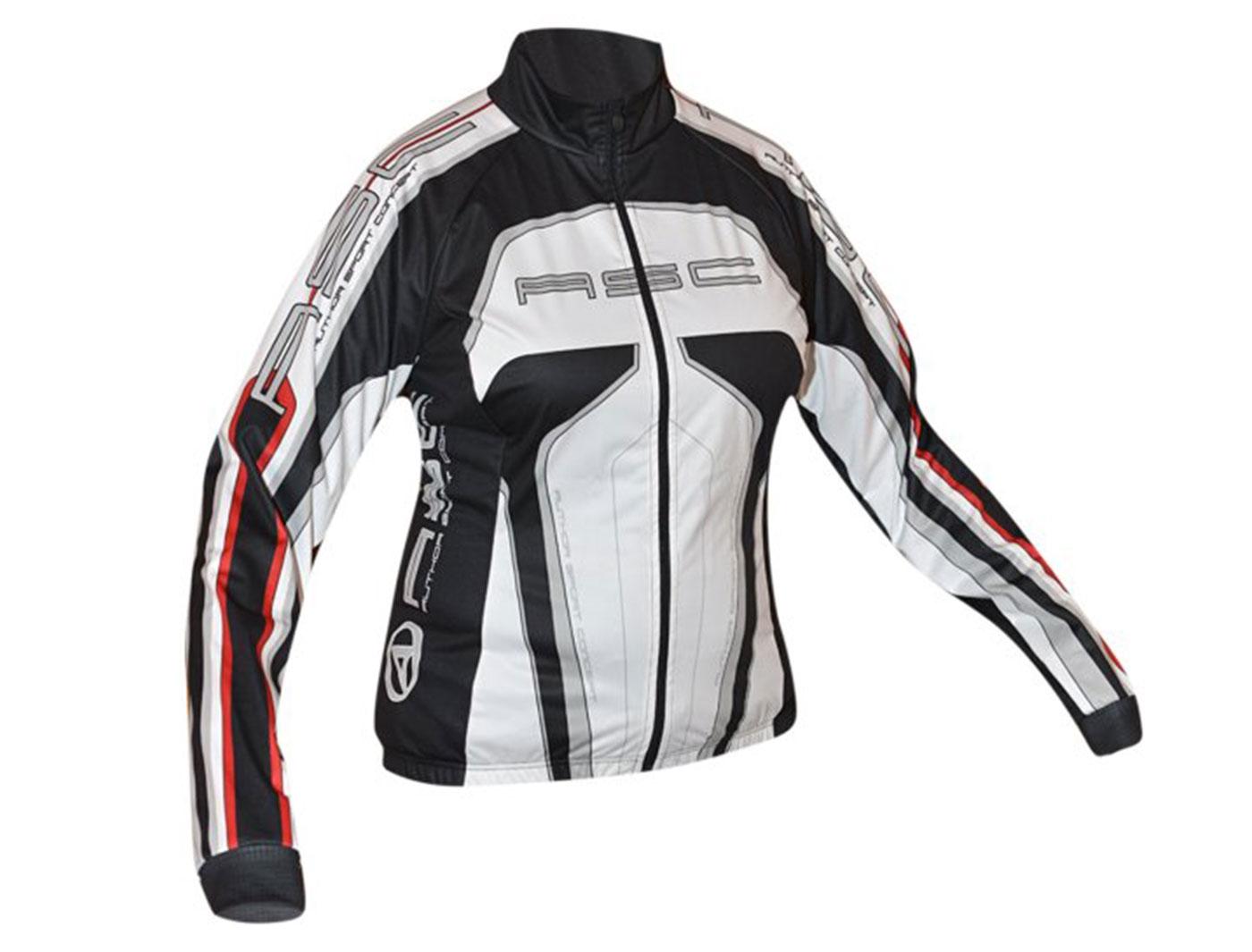 Велокуртка AUTHOR женская 12В Lady Sport Blazer утепл. (Черно-бело-красная)