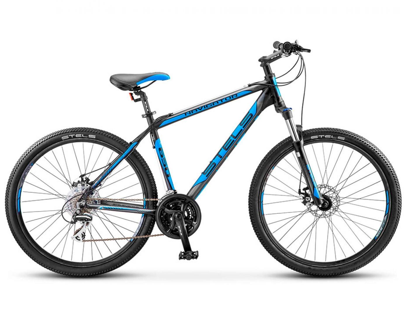 Велосипед STELS Navigator-650 MD (2017) (Черный/Синий)