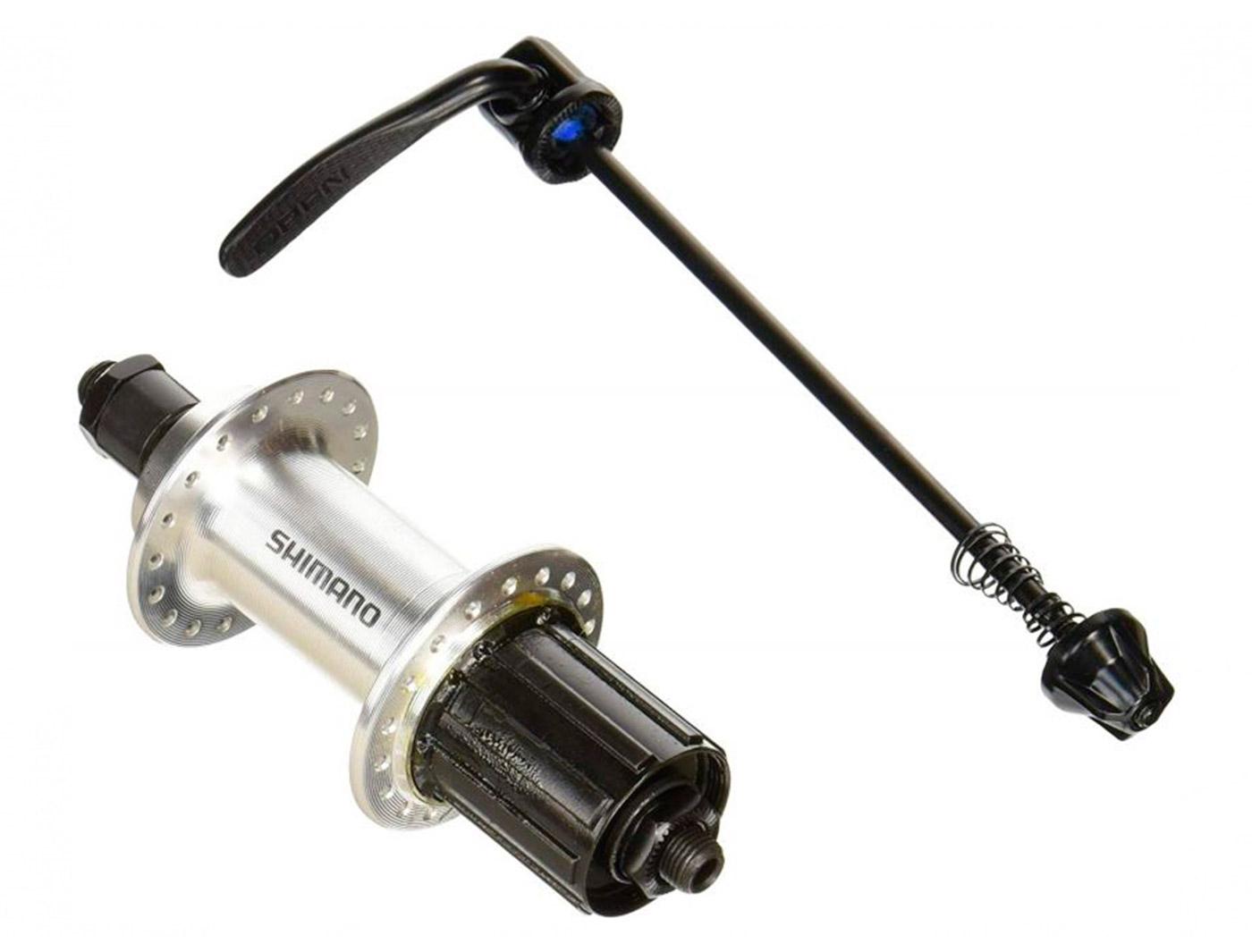 Втулка задн. Shimano TX500, v-br, 36 отв, 8/9, QR, old:135мм, цв. серебр.